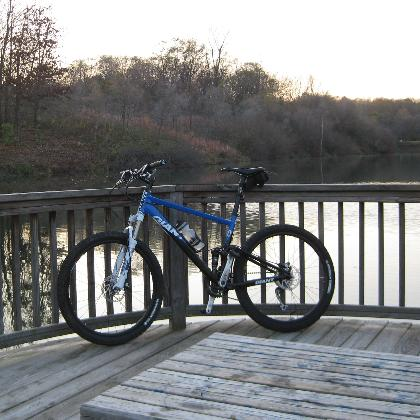 Bike sitting at Lookout