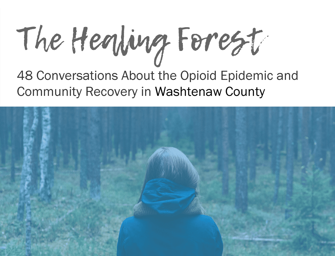 The Healing Forest - 48 conversations about the opioid epidemic and community recovery in Washtenaw
