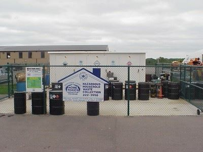 Shed for disposal of household hazardous waste