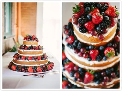 Collage of 3 layer berry dessert