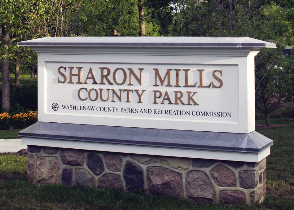 Sharon Mills County Park sign