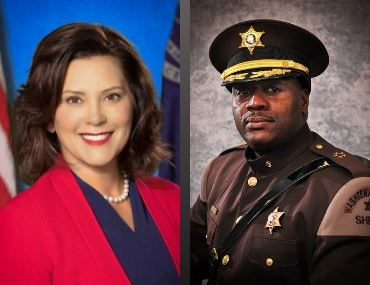 Sheriff Clayton and Gov. Whitmer Image