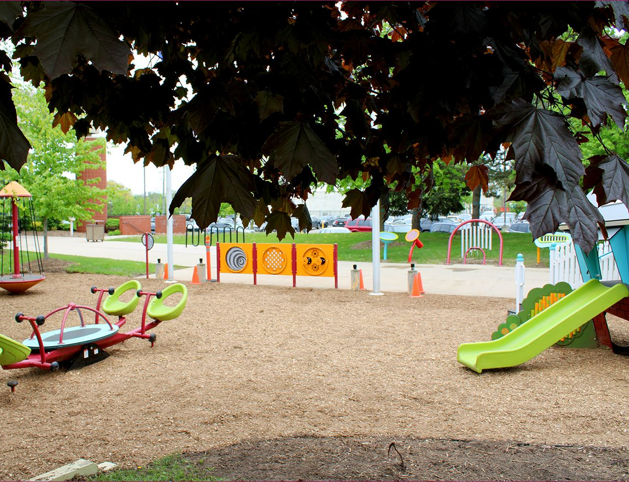 New play equipment at Washtenaw County Health Department