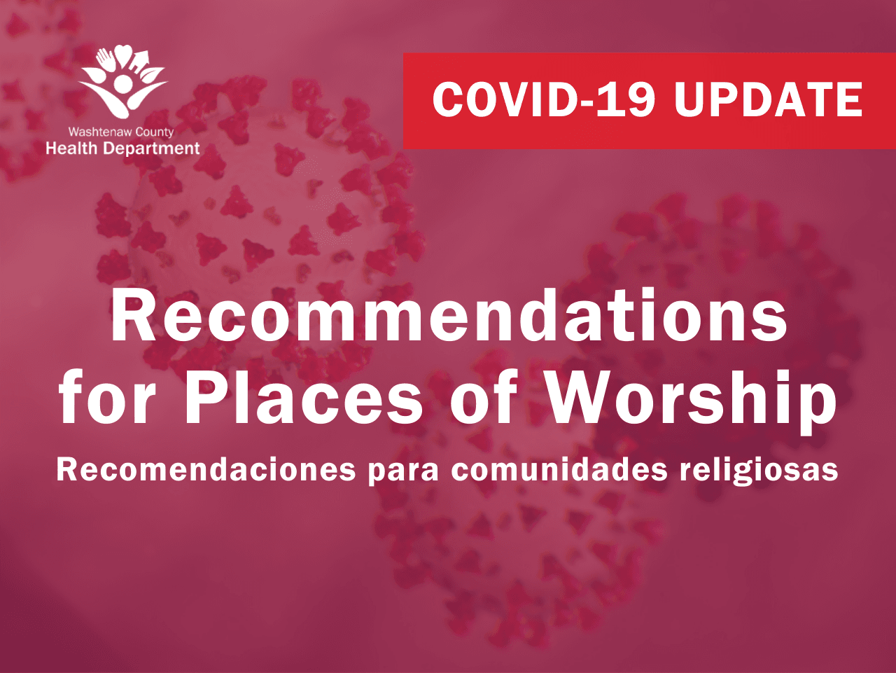 Recommendations for Places of Worship