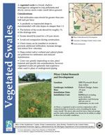 Vegetated Swales Cover Sheet